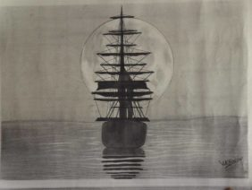 The ship with moon